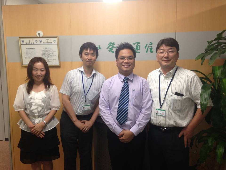 SB Law Representative visited and worked in Hatsumei-Tsushin Co., Ltd
