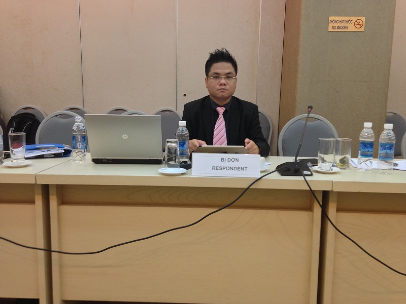 Representative of defendant at VIAC