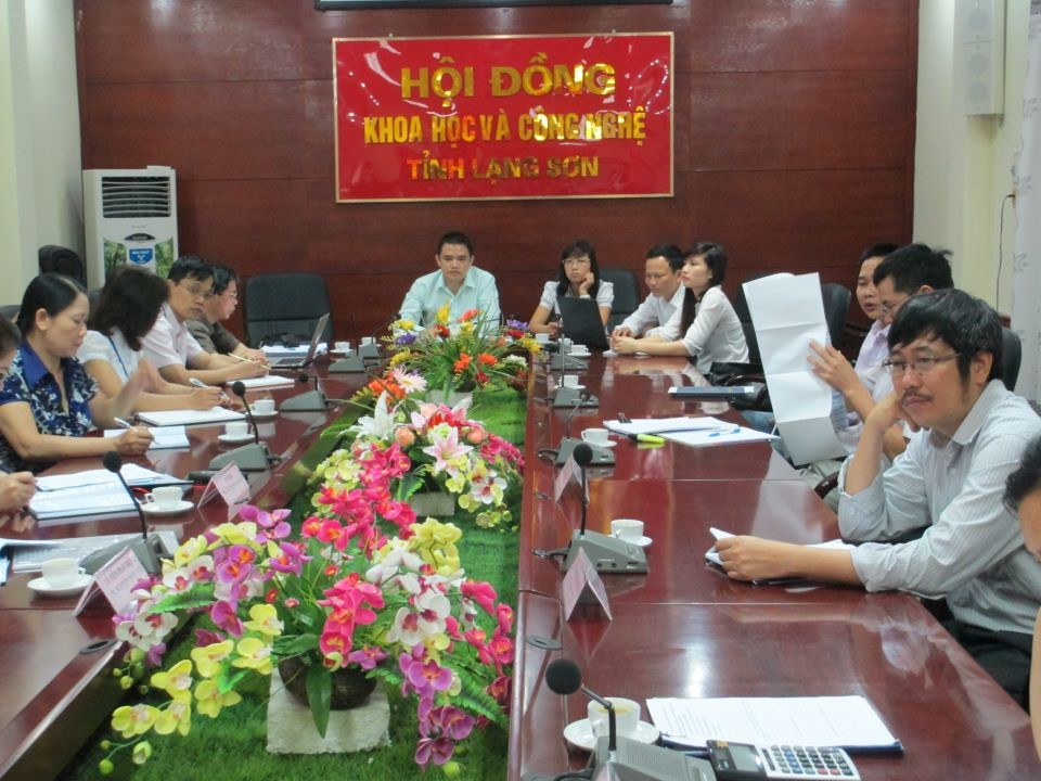 Lawyer Khuong work with Science and Technology councils Lang Son